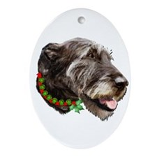 Irish Wolfhound Christmas Ornament (Oval)