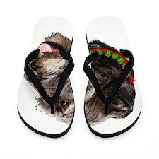 Irish Wolfhound Christmas Flip Flops