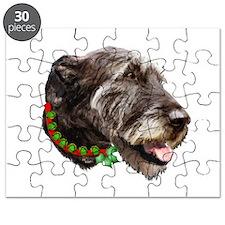 Irish Wolfhound Christmas Puzzle
