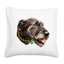Irish Wolfhound Christmas Square Canvas Pillow