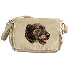 Irish Wolfhound Christmas Messenger Bag