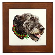 Irish Wolfhound Christmas Framed Tile