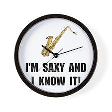 Saxy Know It Wall Clock