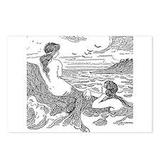 Latimer J Wilson Mermaids Postcards (Package of 8)
