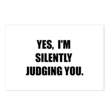 Silently Judging Postcards (Package of 8)