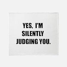Silently Judging Throw Blanket