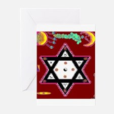 2 Triangles Greeting Cards (Pk of 10)