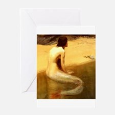 John Collier Mermaid Greeting Cards