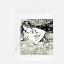 Amelia Bauerle Mermaid Greeting Cards