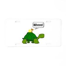 Snail Turtle Ride Aluminum License Plate