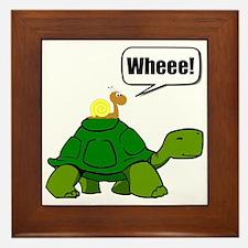 Snail Turtle Ride Framed Tile