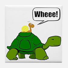 Snail Turtle Ride Tile Coaster