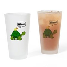 Snail Turtle Ride Drinking Glass