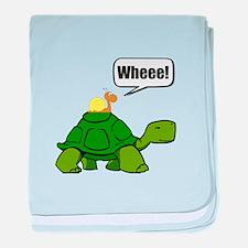 Snail Turtle Ride baby blanket
