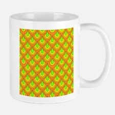 70s green orange pattern Mugs