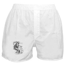 Vintage Mermaid Boxer Shorts