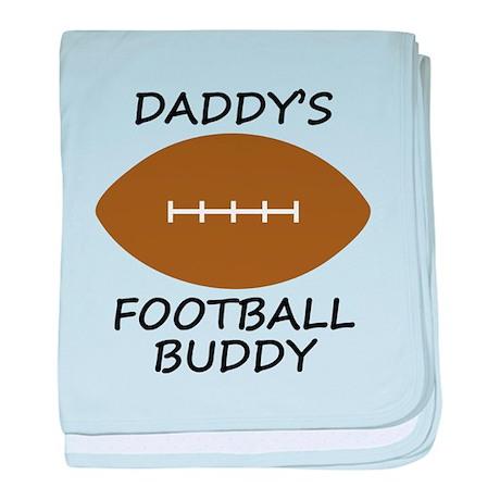 Daddys Football Buddy baby blanket