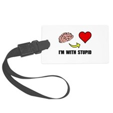 Stupid Heart Luggage Tag