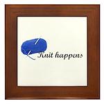 Knitters - Knit Happens Framed Tile