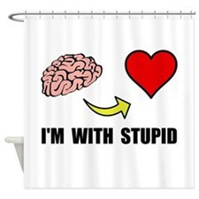 Stupid Heart Shower Curtain