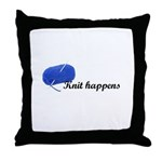 Knitters - Knit Happens Throw Pillow