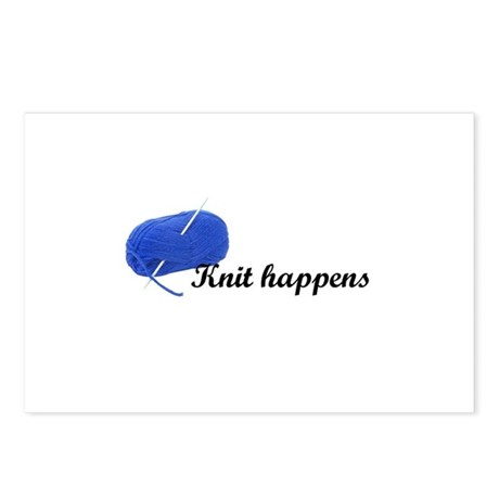 Knitters - Knit Happens Postcards (Package of 8)