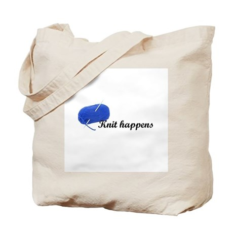Knitters - Knit Happens Tote Bag