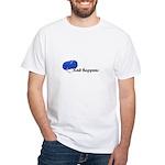 Knitters - Knit Happens White T-Shirt