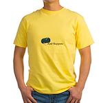 Knitters - Knit Happens Yellow T-Shirt
