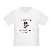 Daddys Snowboard Buddy T-Shirt
