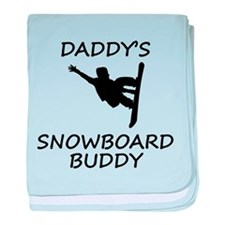 Daddys Snowboard Buddy baby blanket