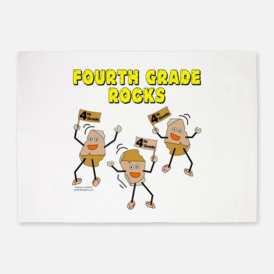 Fourth Grade Rocks 5'x7'Area Rug