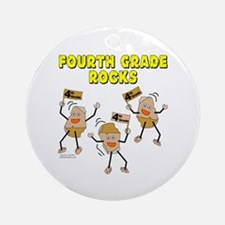 Fourth Grade Rocks Ornament (Round)