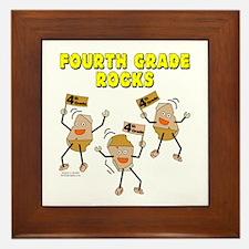Fourth Grade Rocks Framed Tile