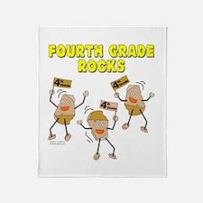 Fourth Grade Rocks Throw Blanket