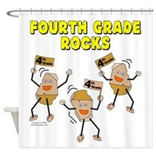 Fourth Grade Rocks Shower Curtain