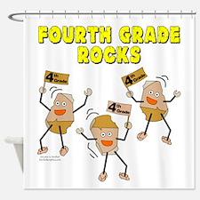 Fourth Grade Rocks Shower Curtain
