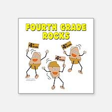 """Fourth Grade Rocks Square Sticker 3"""" x 3"""""""