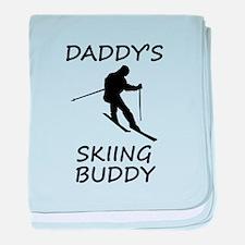 Daddys Skiing Buddy baby blanket