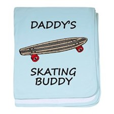 Daddys Skating Buddy baby blanket
