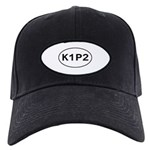 K1P2 - Knit One Purl Two Black Cap