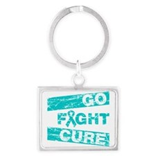 PCOS Go Fight Cure Landscape Keychain