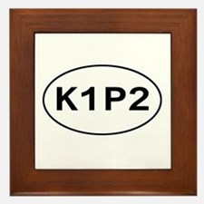 K1P2 - Knit One Purl Two Framed Tile