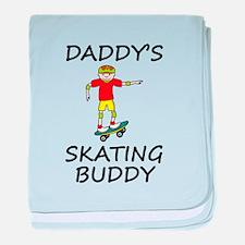 Daddys Skating Buddy baby blanket