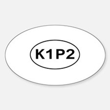 K1P2 - Knit One Purl Two Oval Decal