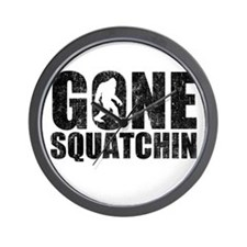 Gone Squatchin Wall Clock