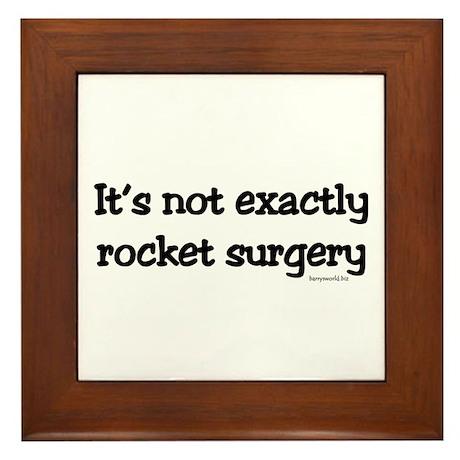 Rocket Surgery Framed Tile