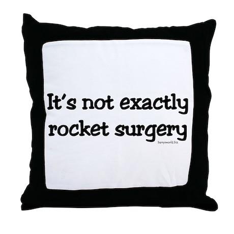 Rocket Surgery Throw Pillow