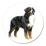 Bernese mountain dog mom Round Car Magnets