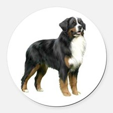 Bernese MD (stand) Round Car Magnet